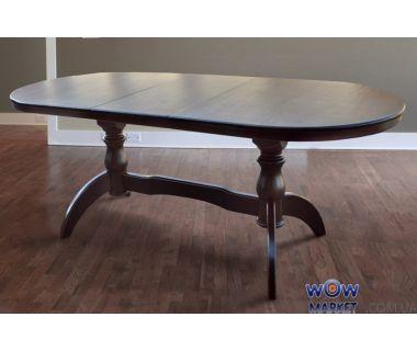 Стол раскладной Оскар Версаче 1600(+400)*900мм орех темный Микс-Мебель Престиж