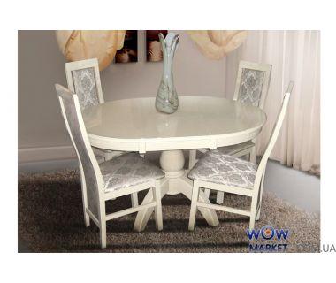 Стол раскладной Престиж 1000(+400)*1000мм (слоновая кость) Микс-Мебель Престиж
