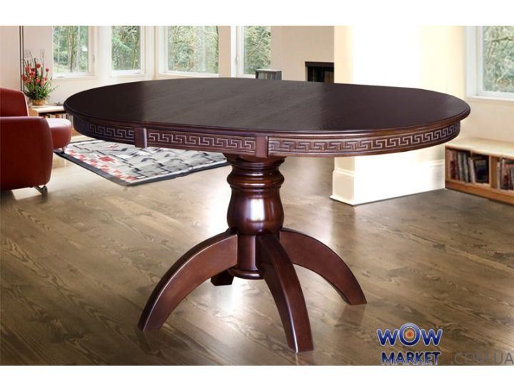Стол раскладной Престиж 1000(+400)*1000мм (орех темный, венге) Микс-Мебель Престиж