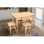 Комплект кухонный стол и 4 табурета Микс-Мебель
