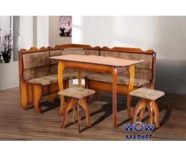 Комплект Даллас (уголок+стол+2 табурета) Микс Мебель