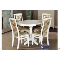 Стол раскладной Чумак-2 (слоновая кость, белый) 800(+300)*800мм Микс-Мебель Карпаты