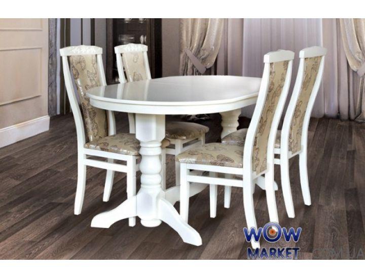 Стол раскладной Говерла-2 1200(+400)*800мм (слоновая кость, белый) Микс-Мебель Карпаты