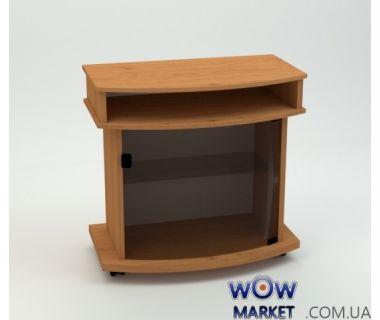 Тумба под телевизор Карат гнутое стекло Компанит